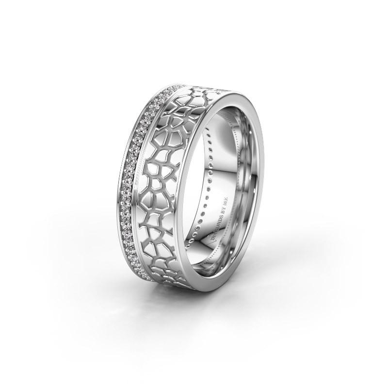 Trouwring WH2070L17C 925 zilver diamant ±7x2.2 mm