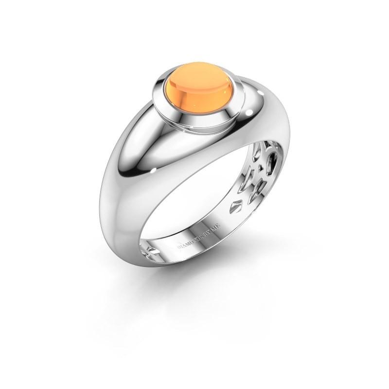 Ring Sharika 925 zilver citrien 6 mm