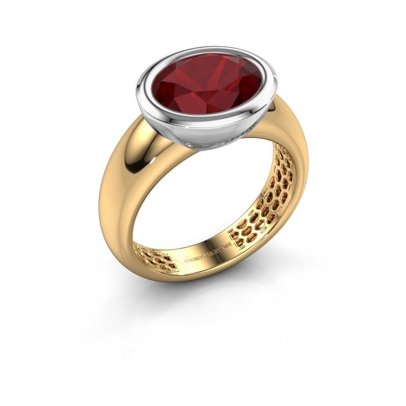 Ring Evelyne 585 gold ruby 10x8 mm