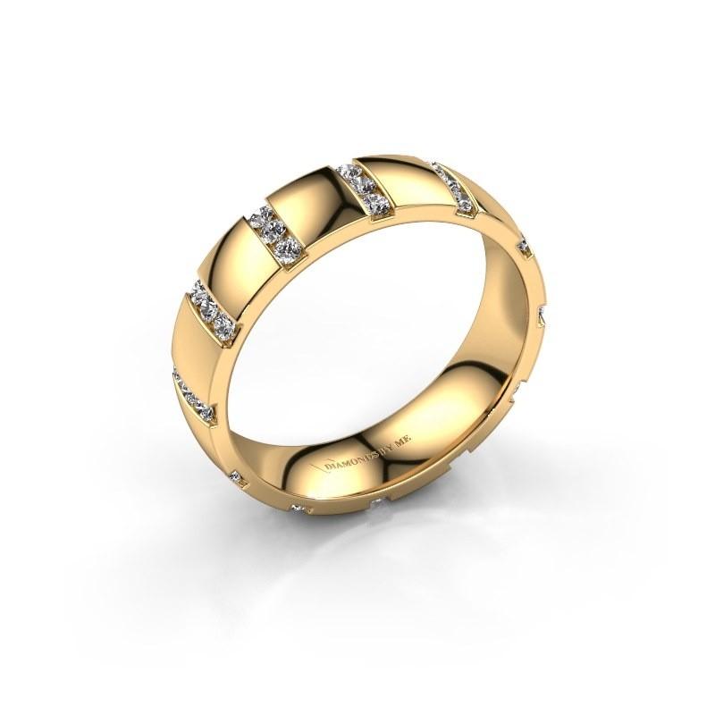Huwelijksring Juul 375 goud zirkonia ±5x1.8 mm