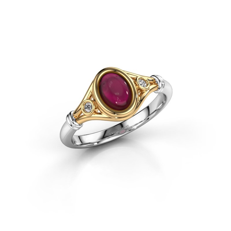 Ring Scarlett 585 goud granaat 7x5 mm