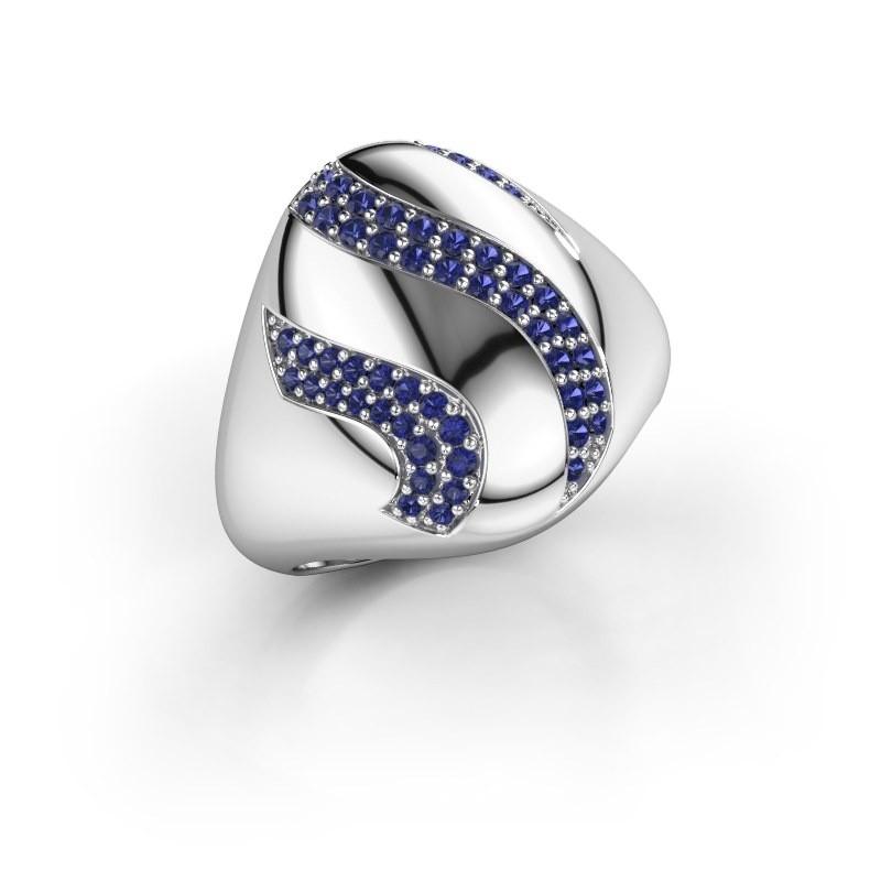 Ring Vilma 925 zilver saffier 1.2 mm