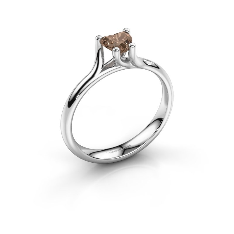 Engagement ring Dewi Heart 585 white gold brown diamond 0.50 crt