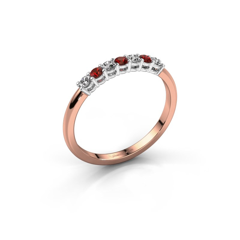 Engagement ring Michelle 7 585 rose gold garnet 2 mm