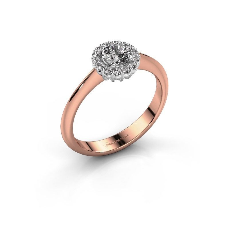 Verlovingsring Anca 585 rosé goud lab-grown diamant 0.30 crt