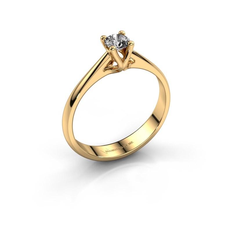 Engagement ring Janna 1 375 gold diamond 0.30 crt