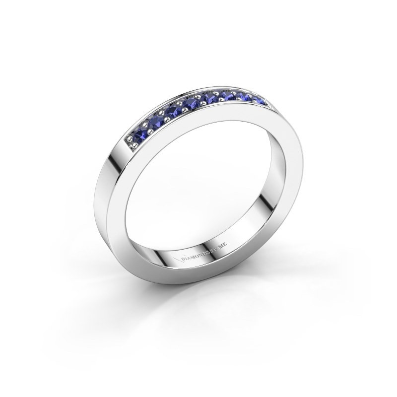 Stackable ring Loes 5 925 silver sapphire 1.7 mm