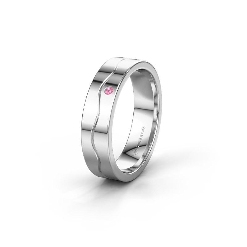 Ehering WH0701L15AP 925 Silber Pink Saphir ±5x1.7 mm