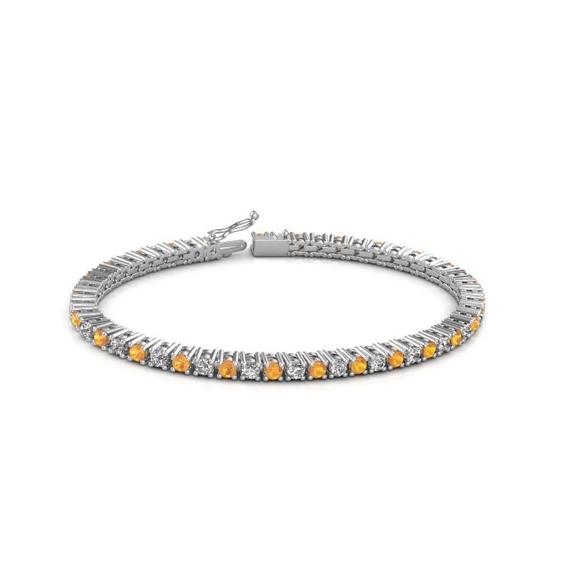 Tennis bracelet Petra 585 white gold citrin 3 mm