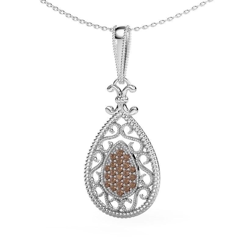 Hanger Tammie 925 zilver bruine diamant 0.27 crt