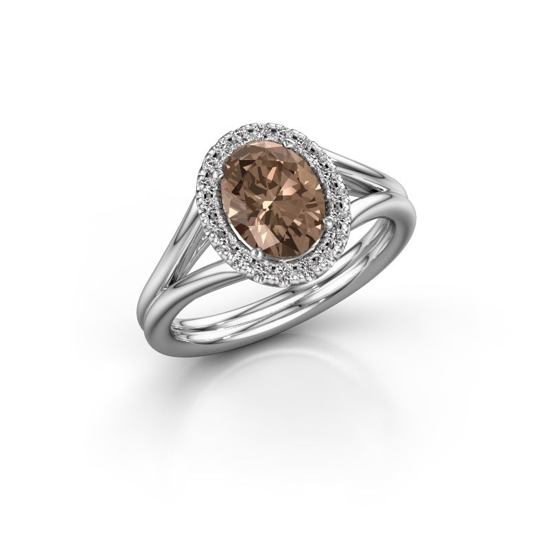 Engagement ring Rachele 1 925 silver brown diamond 1.300 crt