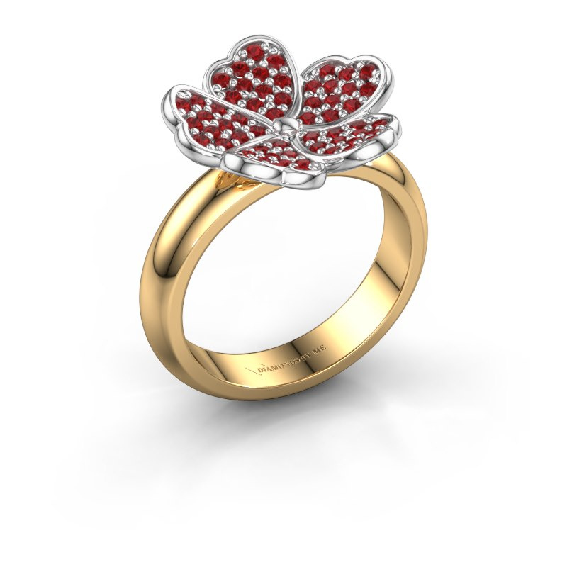 Ring Daphne 585 gold ruby 1.2 mm