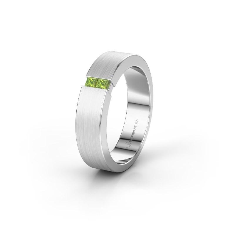 Wedding ring WH2136L15E 950 platinum peridot ±5x2.6 mm