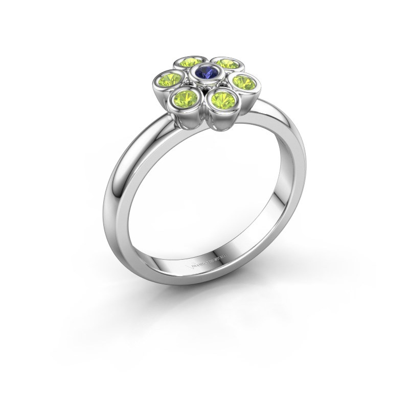 Ring Aaliyah 925 silver sapphire 2 mm
