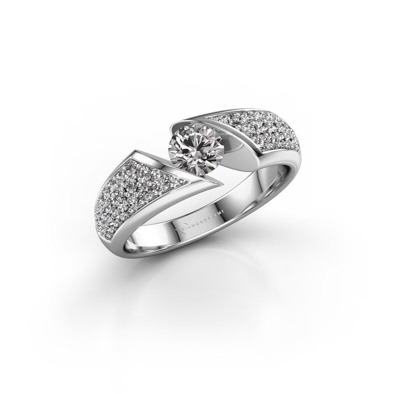 Engagement ring Hojalien 3 950 platinum diamond 0.969 crt