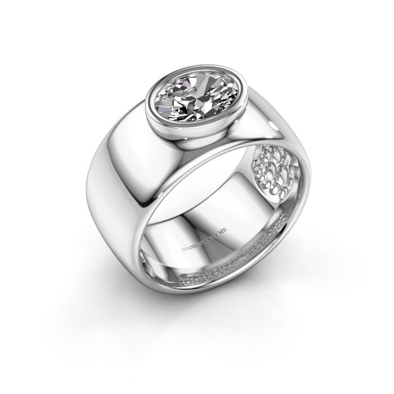 Ring Anouschka 925 zilver zirkonia 8x6 mm