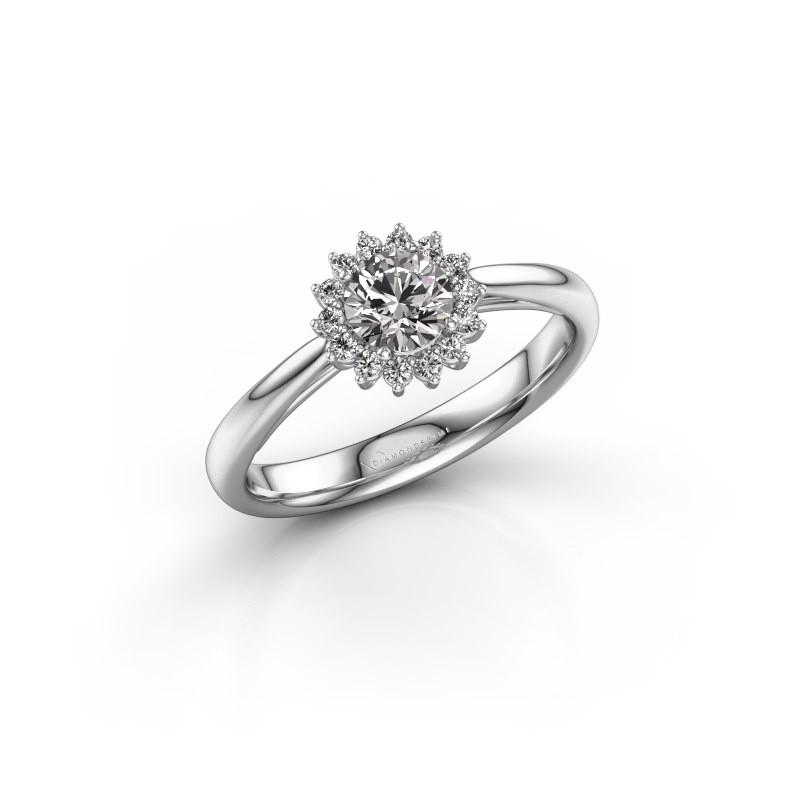 Verlovingsring Tilly RND 1 585 witgoud diamant 0.40 crt