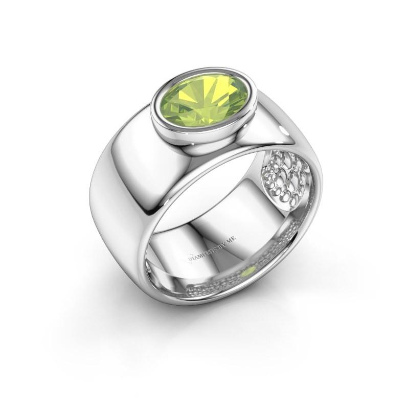 Ring Anouschka 925 Silber Peridot 8x6 mm