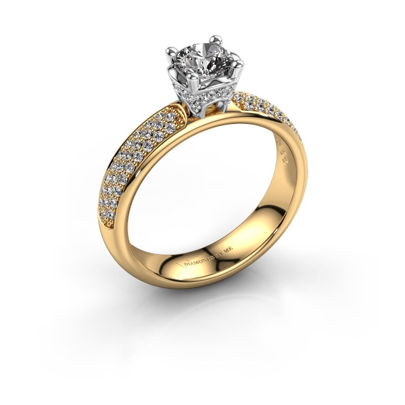 Aanzoeksring Ecrin 585 goud lab-grown diamant 0.989 crt