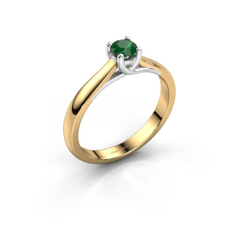 Engagement ring Mia 1 585 gold emerald 4 mm