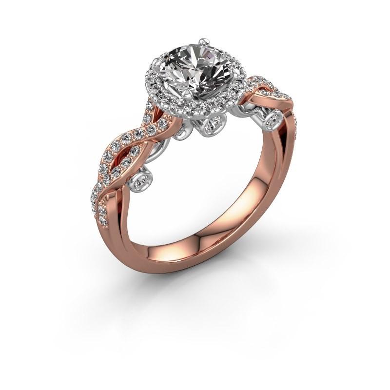 Verlobungsring Madeleine 585 Roségold Diamant 1.485 crt