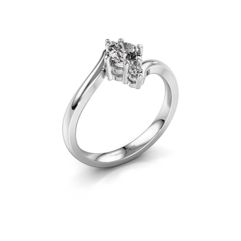 Verlovingsring Genna 585 witgoud diamant 0.56 crt