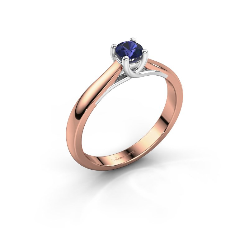 Engagement ring Mia 1 585 rose gold sapphire 4 mm