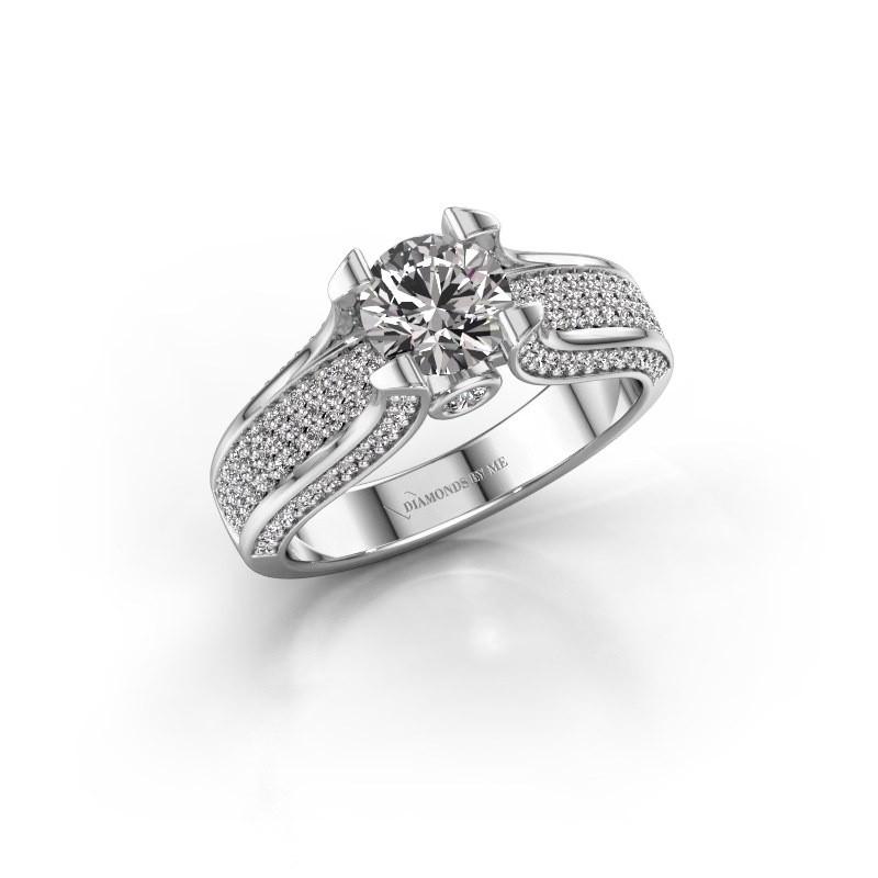 Verlovingsring Jeanne 2 585 witgoud diamant 1.592 crt