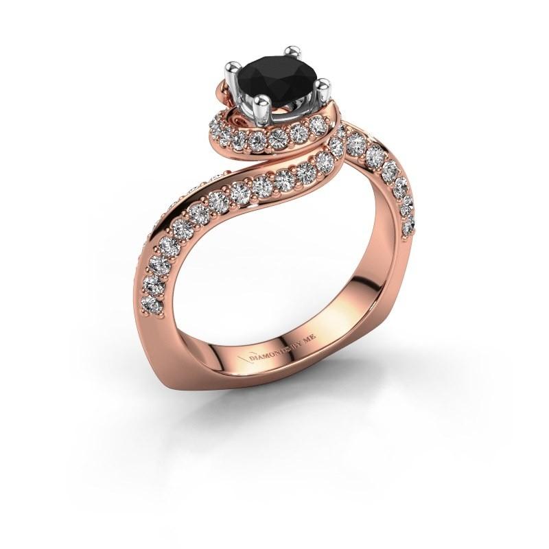 Engagement ring Sienna 585 rose gold black diamond 1.321 crt