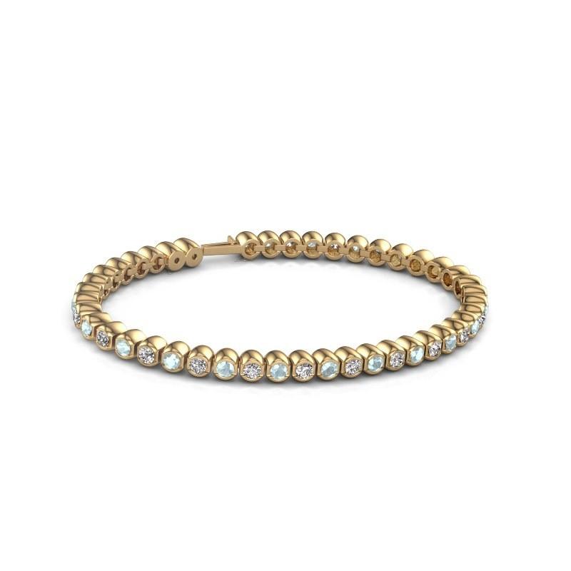 Tennisarmband Asley 375 goud aquamarijn 3 mm