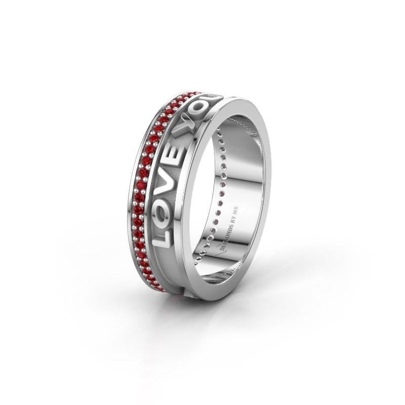 Wedding ring Namering 2 375 white gold ±6x2 mm