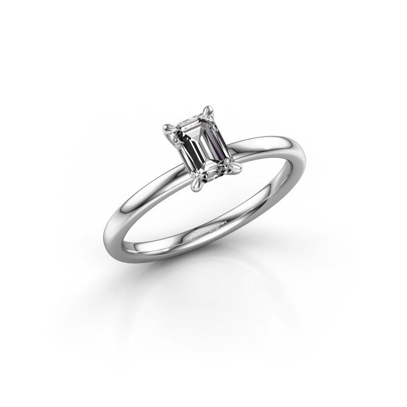 Verlovingsring Crystal EME 1 950 platina diamant 0.70 crt