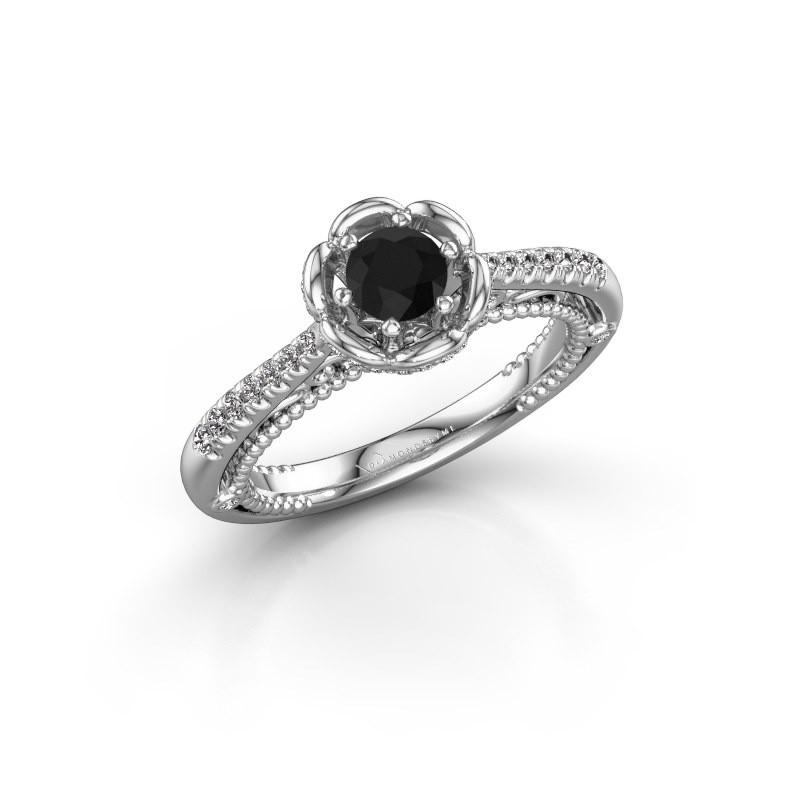 Verlobungsring Abbey 585 Weißgold Schwarz Diamant 0.642 crt