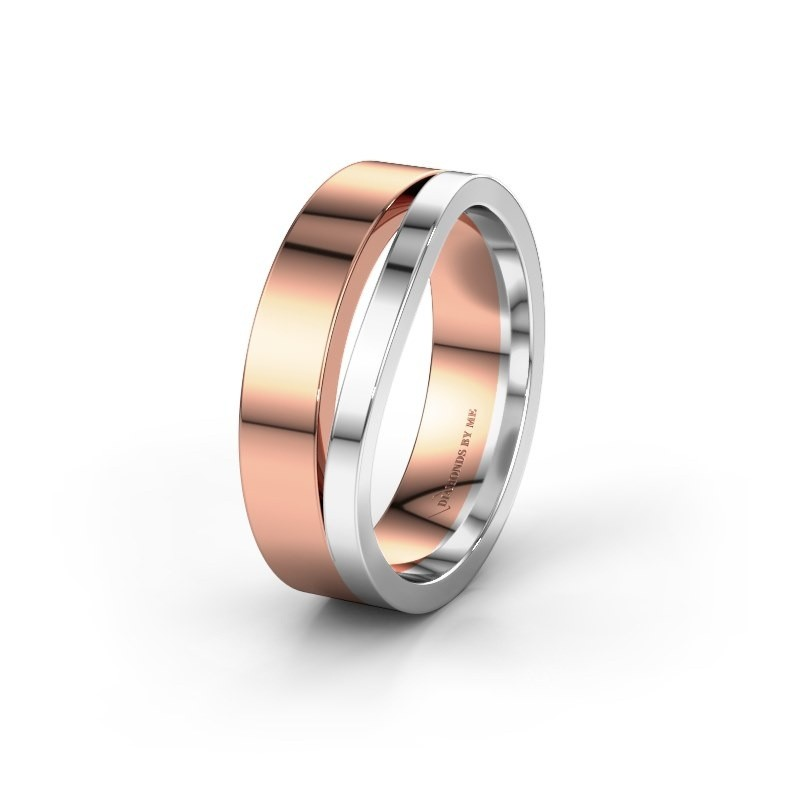Wedding ring WH6000M16AP 585 rose gold ±6x1.7 mm