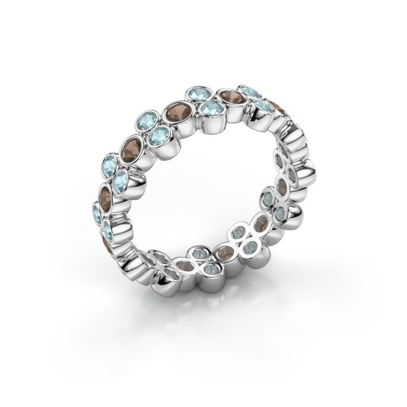Ring Victoria 950 platina rookkwarts 2.4 mm