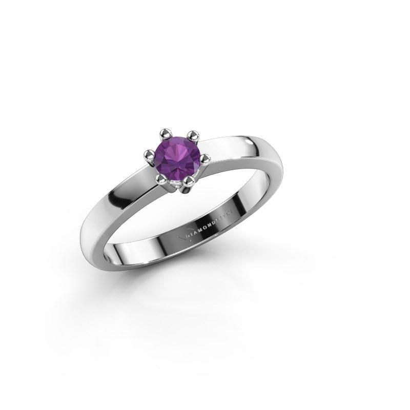 Engagement ring Luna 1 950 platinum amethyst 3.7 mm