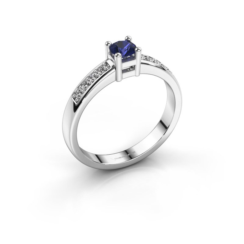 Engagement ring Eline 2 925 silver sapphire 3.7 mm