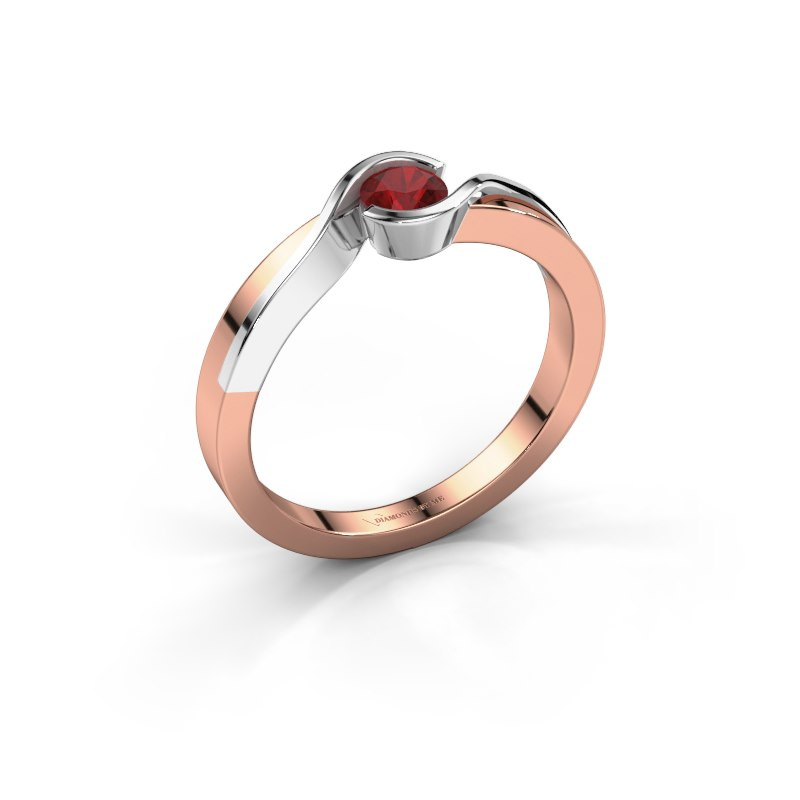 Ring Lola 585 rose gold ruby 4 mm