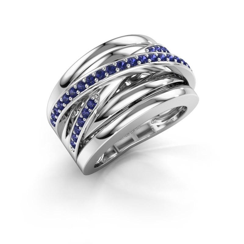 Ring Clair 3 925 zilver saffier 1.5 mm