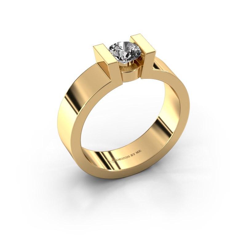Verlovingsring Lieve 1 585 goud diamant 0.50 crt