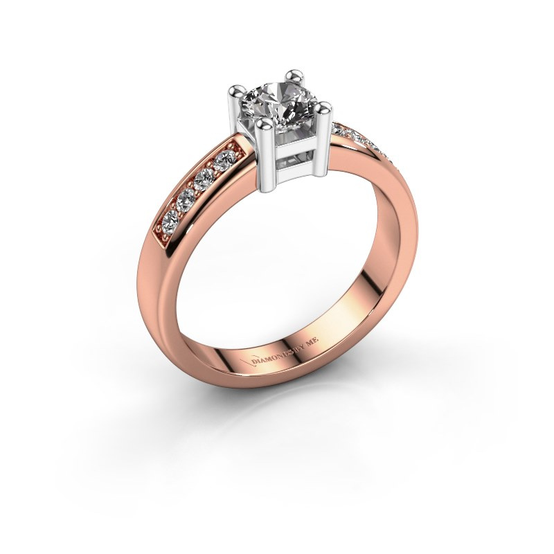 Engagement ring Eline 2 585 rose gold diamond 0.66 crt