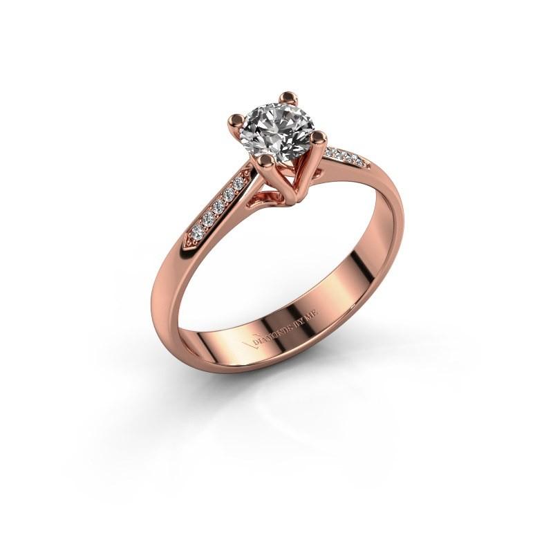 Promise ring Janna 2 375 rose gold diamond 0.40 crt