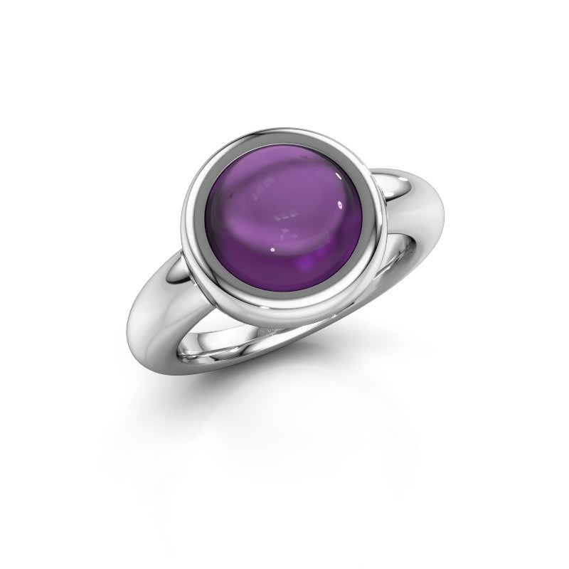 Ring Jenae 950 platina amethist 10 mm
