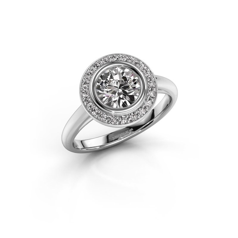 Promise ring Noud 1 RND 950 platina diamant 1.20 crt