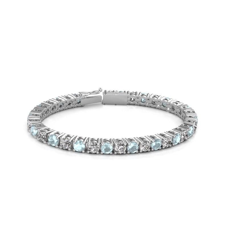 Tennis Armband Ming 750 Weißgold Lab-grown Diamant 17.00 crt