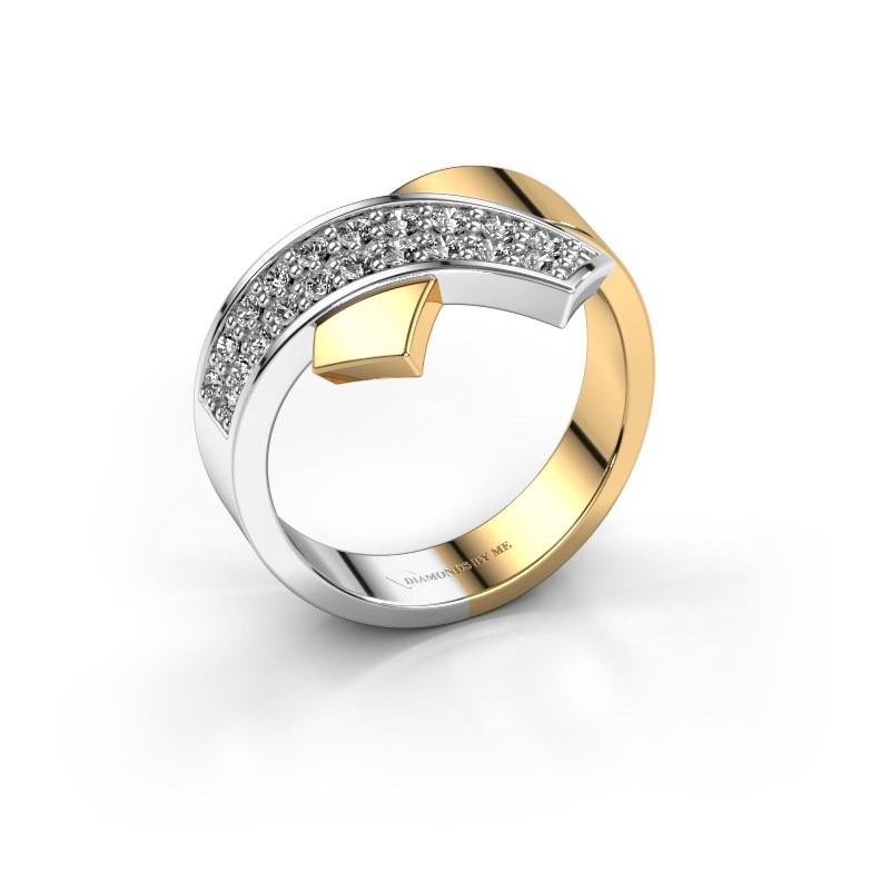 Ring Ivette 585 goud diamant 0.302 crt