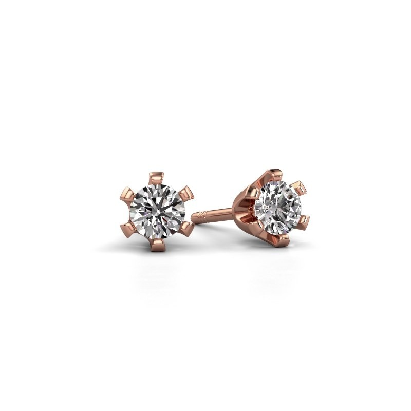Oorstekers Shana 375 rosé goud lab-grown diamant 0.25 crt