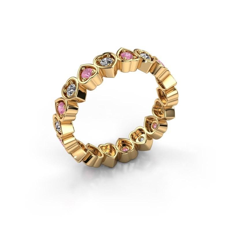 Vorsteckring Pleun 585 Gold Pink Saphir 2 mm