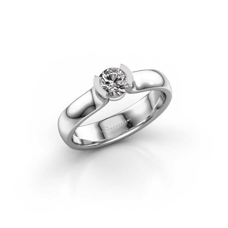 Verlovingsring Ophelia 925 zilver diamant 0.40 crt