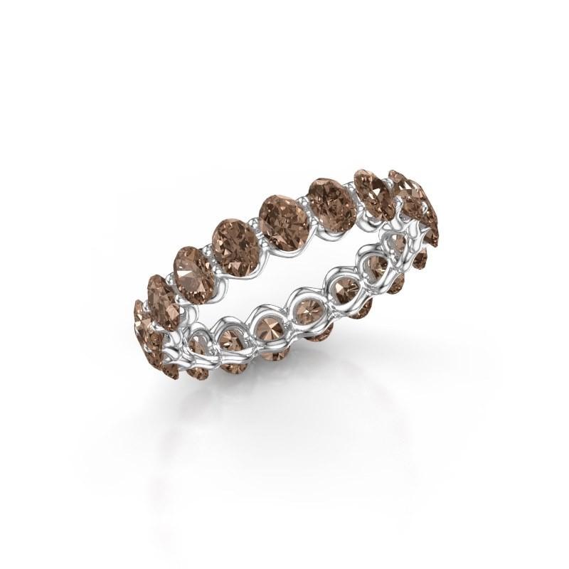Ring Kirsten OVL 4x3 585 witgoud bruine diamant 2.85 crt